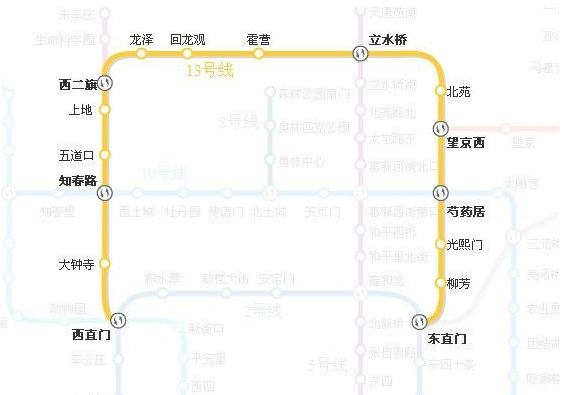 北京13号线地铁线路图和时间表