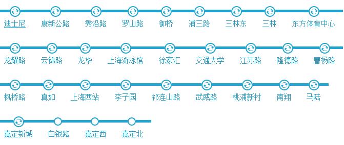 【上海地铁线路图】11号线地铁线路图_时间时