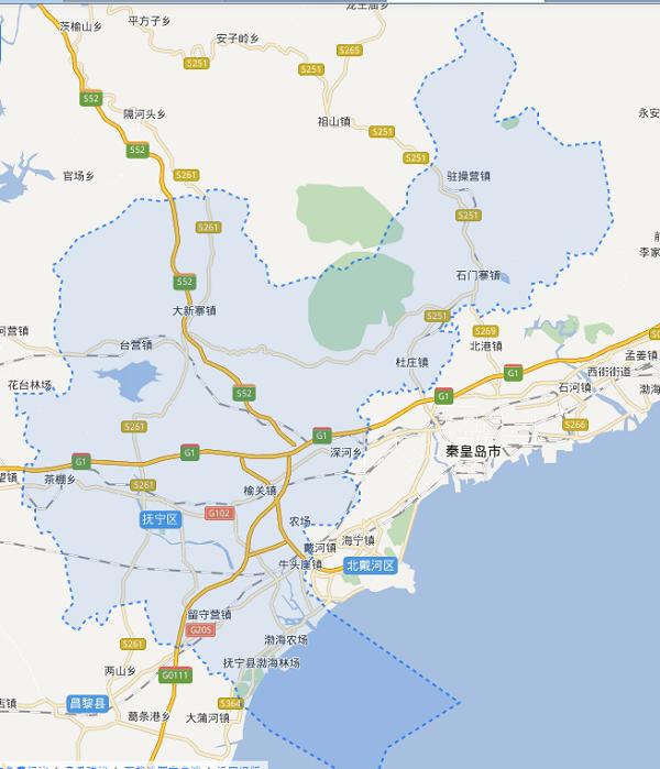 抚宁城区规划图