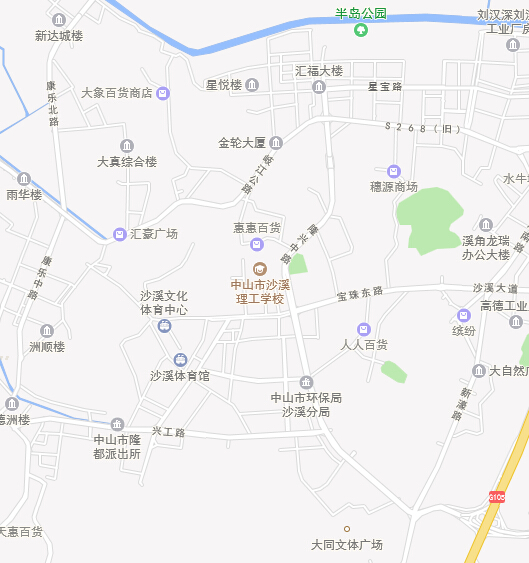 中山市沙溪地图全图高清版